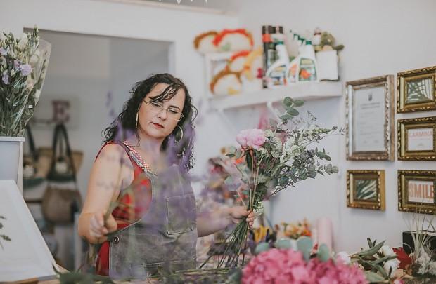 Nuestra tienda y nuestra diseñadora floral